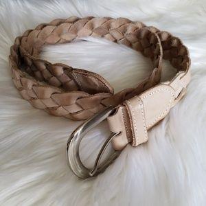 Accessories - Leather braided belt M/L